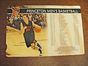 Princeton University 2016/17 Men's Basketball Magnetic Schedule - NEW
