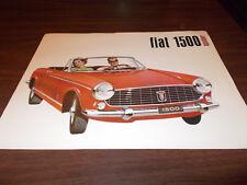 1960s Fiat 1500 Spider 4-page Sales Brochure