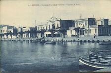 TUNISIE SOUSSE CARTE POSTALE VUE SUR PORT 1928