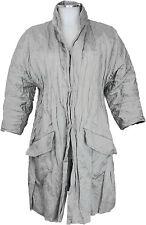Miu Miu Mantel 34/36 (D) crinkle Baumwolle in stein ital. 40 - wie neu coat