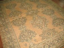 Antique Gorgeous Turkish Oushak Ushak Rug 8'2''x9'8''