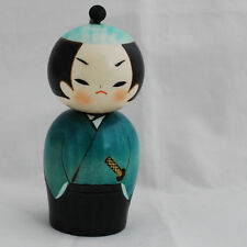 Japanese Kokeshi Doll - Authentic - Handmade in Japan - Samurai / Warrior