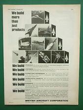 11/1976 PUB BRITISH AIRCRAFT CORPORATION BAC CONCORDE TORNADO JAGUAR MISSILES AD