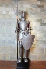 Hand-Made Iron European Medieval Knight Crusader in Full Suit of Armor 6.5'