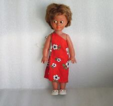 Vintage Plastic And Rubber Doll In Original Dress