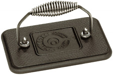 Lodge Cast Iron Grill Press BBQ Barbecue Burger Bacon Grilling Tool Heavy Duty