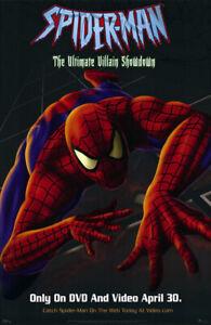 Spider-Man Ultimate Villain Showdown (2002) original DVD poster - ss - rolled