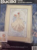 RARE Bethrothed in Beauty crewel with silk ribbon embroidery SEALED Bucilla