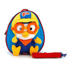 Pororo face safety harness backpack (Blue) / Pororo harness bag (standard)