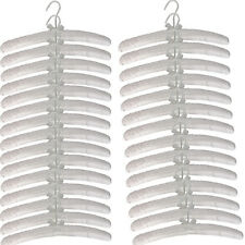 New and High Quality Lot 30 Satin Padded Clothes Hanger Coat Hook Hangers White