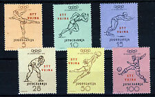 YUGOSLAVIA TRIESTE 1952 ZONE B Helsinki Olympics Set SG B65 to SG B70 MNH