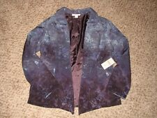 NEW WITH TAGS COLDWATER CREEK OMBRE PRINT OPEN FRONT JACKET SZ 14 Petite