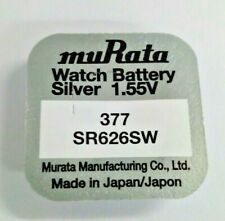 1 x Murata Watch Battery Cell Button Silver-Oxide 1.55v-377 SR626SW AG-4 377 bat