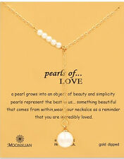 Pearl Of  Love ...Chain Floating Locket Charm Necklaces