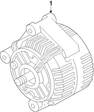 Genuine BMW Alternator 12317555926