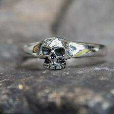 Grinning Skull Ring .925 sterling silver Biker Heavy Metal Gothic feeanddave