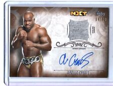 WWE Apollo Crews 2016 Topps Undisputed Bronze Autograph Relic Card SN 64 of 99