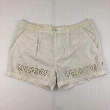 Vintage Chemise Lacoste Swim Shorts Size XL Cream