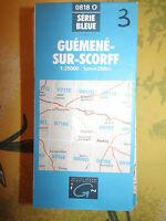 carte IGN Bleue 0818 O guemene sur scorff 1997