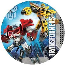 Transformers Edible Kids Birthday Cake Icing Topper Decoration Round Images