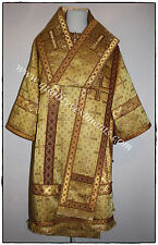 Orthodox Bishop vestments metallic brocade gold burgundy or any color