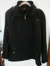 BLACK GALLERY JACKET WITH TAUPE INSIDE HOOD SIZE SMALL