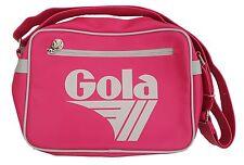 GOLA Borsa Messenger Classico Retrò Stile Midi-Neon Rosa