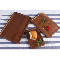 Wooden Serving Tray Plate Tea Food Platter Home Decoration Fruit Plain Plate