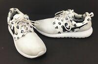 Nike Roshe Run Rosherun Print 599432-101 Womens Size 8 White
