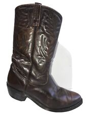 Red Wing Pecos Cowboy Boots Mens SZ 10 E Western Brown Leather 9801 Riding Vtg