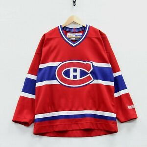 Montreal Canadiens CCM Jersey Size Medium Red NHL Stitched