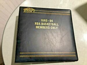 1993-94 Topps Stadium Club Members Only Basketball Card Binder - BINDER ONLY
