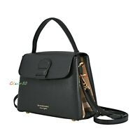 NWT Authentic Burberry Small Camberley Derby Leather & House Check Satchel