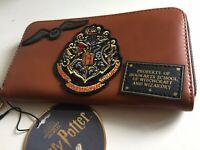 Harry Potter Property HOGWARTS Damen Geldbörse Geldbeutel Braun Aufnäher