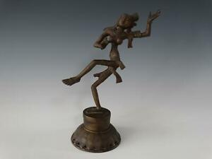 Dancing Bronze Figure of Shiva or Copper Alloy Indian Deity Statue