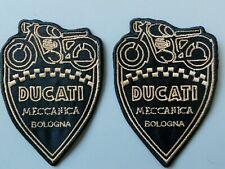 PATCH DUCATI MECCANICA BOLOGNA PZ 2 RICAMATA TERMO CM.9X6-REPLICA -COD 212