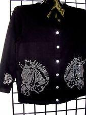 1X 20/22 TERAZZO WOMEN'S EQUESTRIAN WESTERN RODEO HORSE ART DESIGN SWEATER