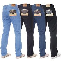 Kruze Mens Regular Fit Straight Jeans Denim Pants Big Tall King All Waist Legs