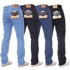 Hommes Basique Jeans Décontracté Travail Résistant Droit Jambe Standard Pour