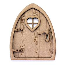 3D Fairy Pixie Elf Door Kit. Natural MDF, Engraved Woodgrain Effect. Decoration