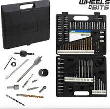 101 Pcs Drill Bit Set Wood Metal Masonry & Phillips Flat Slot Torx Headed bits