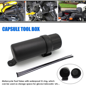 Universal Motorcycle Capsule Tool Box Case Storage Accessories Fit For BMW Honda