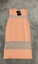 Missguided Orange Bodycon Dress - UK 8
