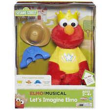 Playskool Sesame Street Let's Imagine Elmo The Musical Singing Plush Toy Doll