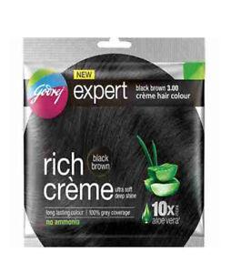 4 X Godrej Expert Rich Creme Black Brown 3.0 Hair Color ( 20 gm + 20 ml )