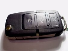 NEW 3 BUTTON REMOTE FLIP KEY FOB, for VW GOLF Mk5, CADDY, TOURAN, POLO, 434Mhz