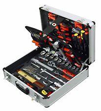 127pc Tool Kit in Aluminium Case Wheels Handle Toolkit Set Box Household Home