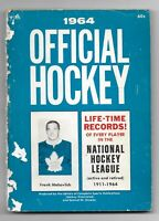 1964 Official Hockey Life Time Records of Every Player in the NHL Paperback Book