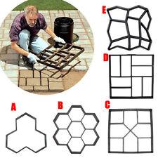 DIY Plastic Path Maker Pavement Model Concrete Stepping Stone Cement Mould Brick