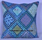 """16"""" Floral Cotton Cushion Cover Ethnic Indian Hand Printed Pillow Case Decor Art"""